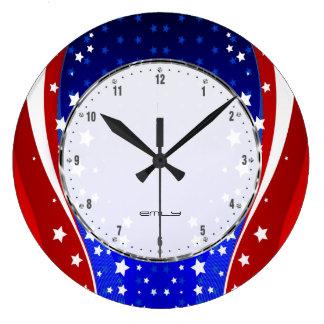 Relógio Grande As estrelas & as listras patrióticas abstraem a
