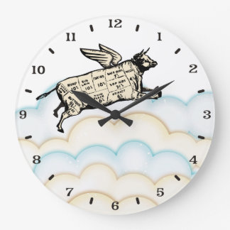Relógio Grande As nuvens que voam a vaca voam o pulso de disparo