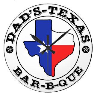 Relógio Grande Assado do Texas do pai por mini irmãos