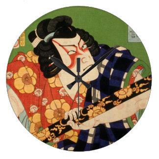Relógio Grande Ator japonês (#1) (impressão do japonês do