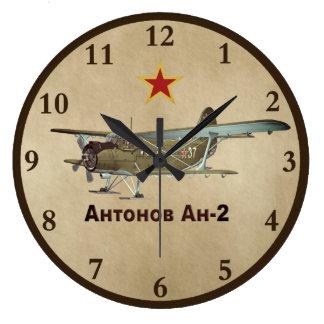 Relógio Grande Avião de Antonov AN-2 do soviete