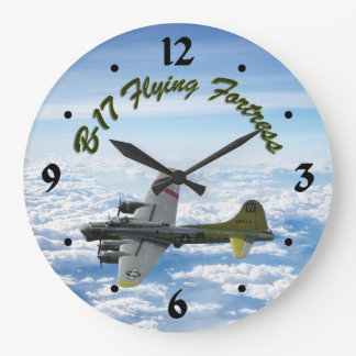 Relógio Grande Avião do bombardeiro da fortaleza WWII do vôo B17