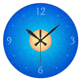 Relógio Grande Azul da planície com pulso de disparo