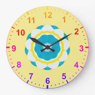 Relógio Grande ~ azul do Fractal do Doodle do ~
