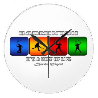 Relógio Grande Badminton legal é um modo de vida