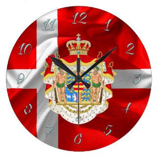 Relógio Grande Bandeira-Casaco dinamarquês dos braços