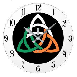 Relógio Grande Bandeira celta de Ireland do nó do círculo