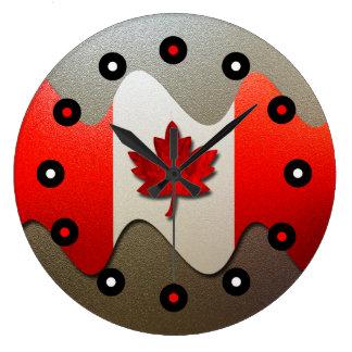 Relógio Grande Bandeira-Cromo de Canadá por Shirley Taylor