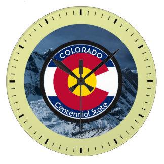 Relógio Grande Bandeira da circular de Colorado