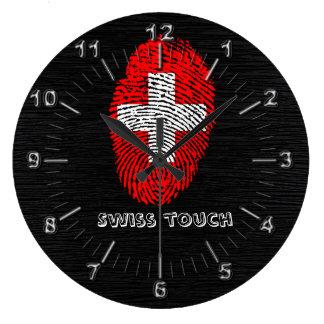 Relógio Grande Bandeira da impressão digital do toque do suíço