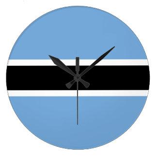 Relógio Grande Bandeira de Botswana