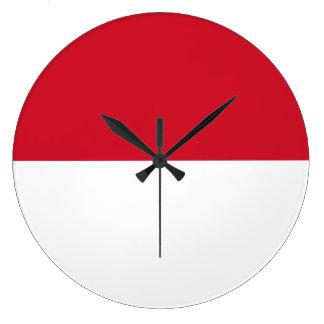 Relógio Grande Bandeira de Monaco