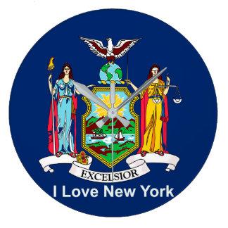 Relógio Grande Bandeira de New York para o
