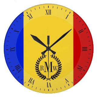 Relógio Grande Bandeira de Romania