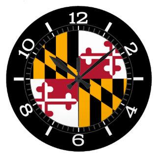 Relógio Grande Bandeira dinâmica do estado de Maryland em a
