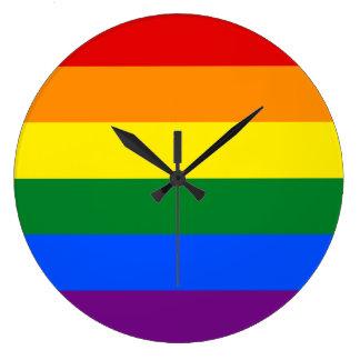 Relógio Grande Bandeira do arco-íris