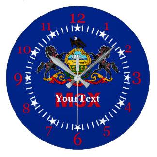 Relógio Grande Bandeira do estado de Pensilvânia em a