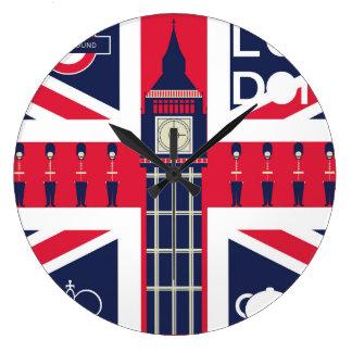 Relógio Grande bandeira do jaque de união do vintage com