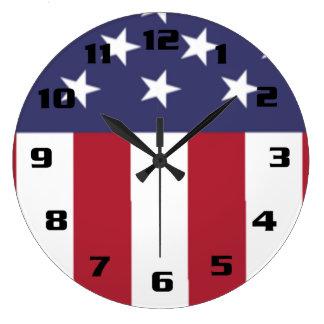 Relógio Grande Bandeira dos Estados Unidos patriótica