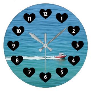 Relógio Grande Barco da velocidade com o pulso de disparo de