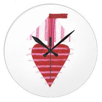Relógio Grande Barco de Loveheart nenhum pulso de disparo do