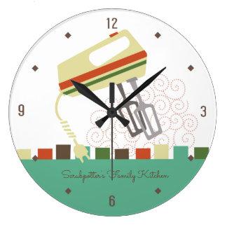 Relógio Grande Batedores elétricos retros que cozem o pulso de
