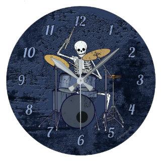Relógio Grande Baterista de esqueleto