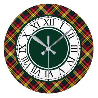 Relógio Grande Beira do Tartan de Buchanan do clã