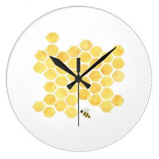 Relógio Grande berçário amarelo da cozinha do pulso de disparo de