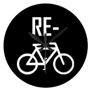 Relógio Grande Bicicleta da bicicleta do reciclar