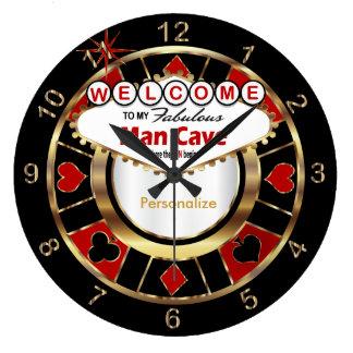 Relógio Grande Boa vinda à caverna do homem do estilo de Las