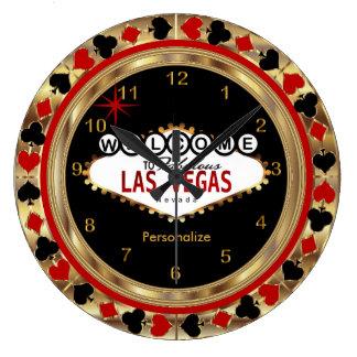 Relógio Grande Boa vinda a Las Vegas!