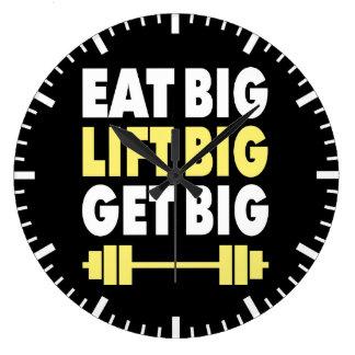 Relógio Grande Bodybuilding - coma grande, levantam grande, obtêm