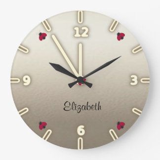 Relógio Grande Bonitos adorável, joaninhas,