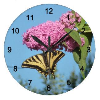 Relógio Grande Borboleta na borboleta Bush
