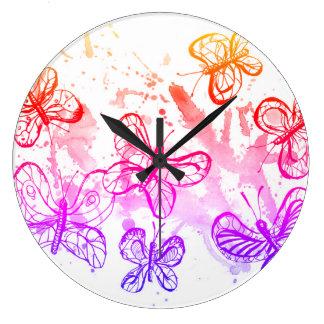 Relógio Grande Borboletas de inspiração