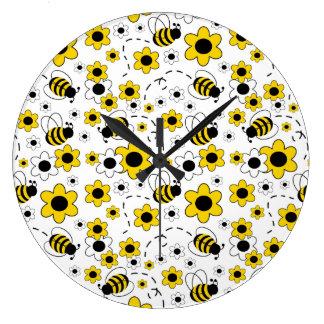 Relógio Grande Bumble o amarelo da sala do berçário do bebé da