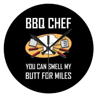 Relógio Grande Bumbuns do cheiro do cozinheiro chefe do CHURRASCO