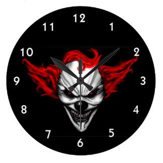 Relógio Grande Cabelo mau feliz do vermelho do palhaço