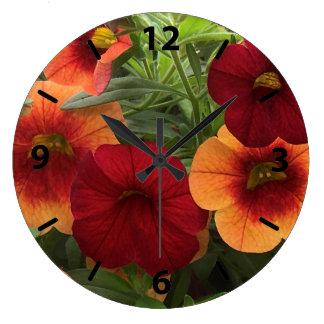 Relógio Grande Calor de The Sun floral