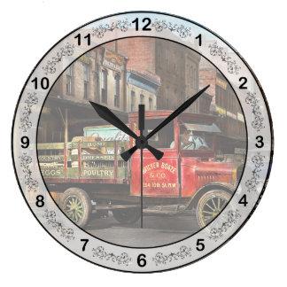 Relógio Grande Caminhão - aves domésticas vestidas Home 1926