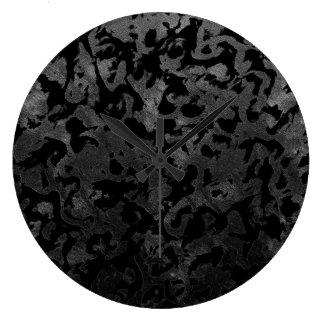 Relógio Grande Camuflagem cinzenta preta e escura de Camo moderno