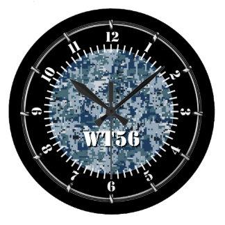 Relógio Grande Camuflagem personalizada de Digitas do marinho em