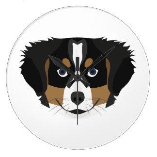 Relógio Grande Cão de montanha de Bernese da ilustração