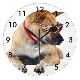 Relógio Grande Cão que veste óculos de sol