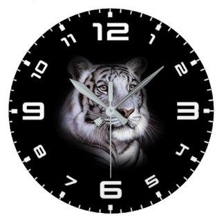 Relógio Grande Cara branca do tigre