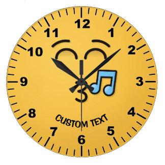 Relógio Grande Cara de assobio com olhos de sorriso