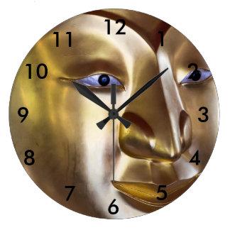 Relógio Grande Cara de Buddha