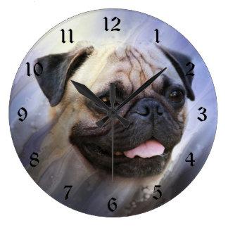 Relógio Grande Cara do Pug