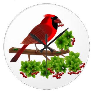 Relógio Grande Cardeal vermelho bonito
